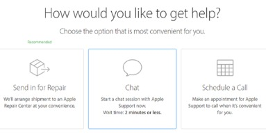 apple online chat